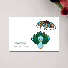 peacock baby shower unique indian baby shower thank you cards peacock baby by soulful moon