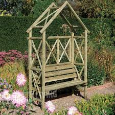 buy forest garden wooden parisienne arbour seat shop every store