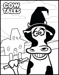 free halloween printables coloring book pages cow tales
