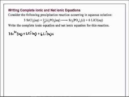 writing complete ionic and net ionic equations chemistry youtube