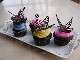 Chocolate Butterfly Cake Decorations