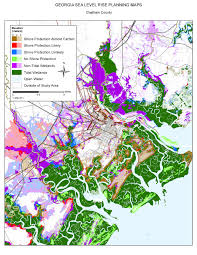 Georgia Counties Map Sea Level Rise Planning Maps Likelihood Of Shore Protection In