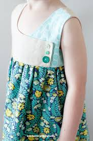 free girls dress pattern the august dress pattern sizes 2 9