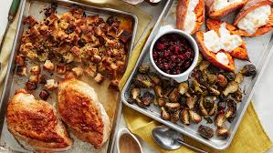 thanksgiving dinner on two oven trays food network uk