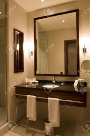 elegant 5 star hotel or apartment luxury bathroom stock photo