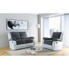 canap fauteuil pas cher pack promo ensemble canapé 2 places relax fauteuil relax helene