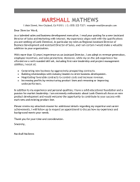 best assistant director cover letter examples livecareer