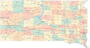 south dakota road map south dakota road map south dakota mappery