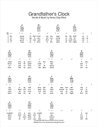 grandfather s grandfather s clock sheet music by henry clay work ukulele with