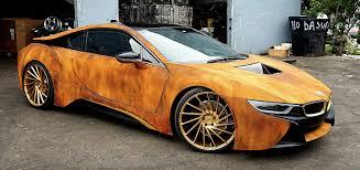 customized cars rust wrapped bmw i8 good or stupid idea bmw i8 pinterest