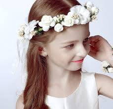 hair corsage flower girl hair wreath and wrist corsage miami general store