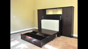 metro wall unit and cabinet bed youtube