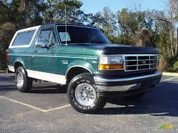 bronco car 1993 jewel green metallic ford bronco eddie bauer 4x4 1094807