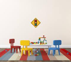 wbn home design inc amazon com street u0026 traffic sign wall decals stop ahead symbol