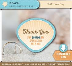 bridal shower favor tags themed bridal shower favor tags the party stork