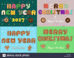 best new year cards greeting christmas and new year cards artistic fonts texts merry