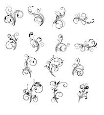 floral swirls ornament vector vector floral vector ornament