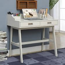 Grey Office Desk Grey Pine Small Office Desk Free Shipping Today
