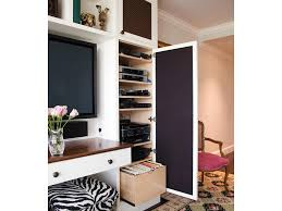 media center custom millwork pull out table storage solutions