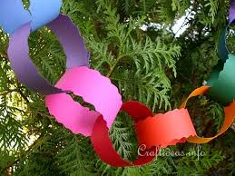 free paper craft projects for tree garland