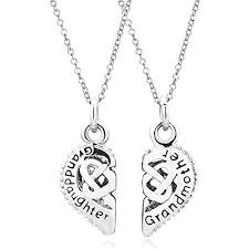grandmother and granddaughter necklaces and granddaughter