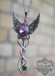 anime necklace images Fantasy winged key necklace fantasy jewelry winged jewelry anime jpg