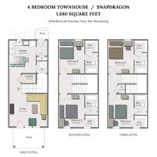 Townhome Floor Plan by Apartments In College Station The Junction