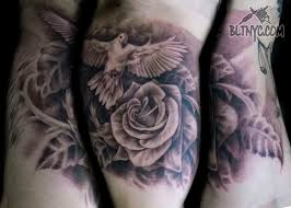 the 25 best dove and rose tattoo ideas on pinterest lace rose