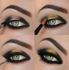 black and gold eyeshadow tutorial