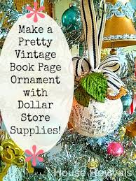 Ornament Store Near Me House Revivals Book Page Ornament With Dollar Store Supplies
