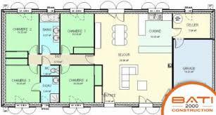plan maison 120m2 4 chambres plan maison 4 chambres et garage
