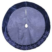 shop living 48 in blue polyester snowflake tree