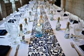 blue and white table runner navy blue damask on this day i thee wed pinterest damasks