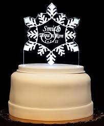 snowflake light up wedding cake topper wedding collectibles
