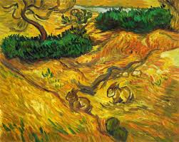 field with two rabbits vincent van gogh hand painted oil zoom