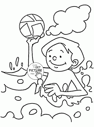 fun summer game coloring page for kids seasons coloring pages