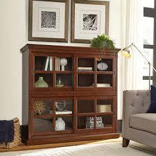 Glass Enclosed Bookcases Bookcases Costco