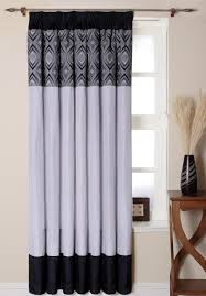 Black And White Blackout Curtains Black And White Patterned Curtains Black Blackout Curtains From