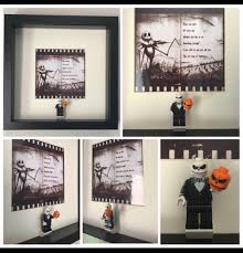 nightmare before christmas minifigure frame made by figurethatbox