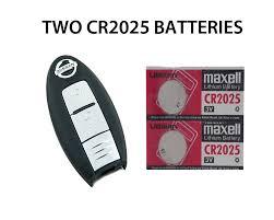 nissan qashqai key fob 2 new nissan juke micra note leaf remote key fob batteries cr2025
