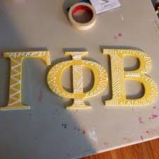 best 25 wooden greek letters ideas on pinterest sorority