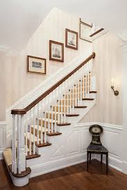 is that wallpaper on the walls going up the stairs white paint color