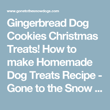 gingerbread dog cookies christmas treats how to make homemade dog