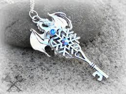 gem key necklace images Red and gold crystal drake dragon key necklace oblacoder jpg