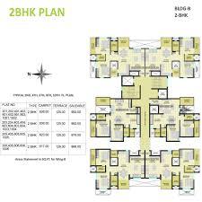 2 Bhk Floor Plans Floor Plan Of Shubhankar Durvaa Devlopment