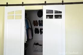 How To Build A Sliding Closet Door Closet Sliding Barn Doors Build Plans A Houseful Of Handmade
