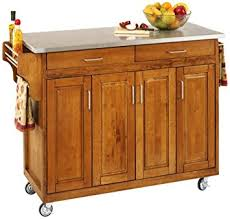 kitchen island cart stainless steel top amazon com home styles 9200 1062 create a cart 9200 series