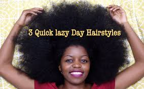3 quick lazy day hairstyles for natural hair misst1806 youtube