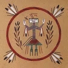 Indian Wedding Vase Story Navajo Navaho Sand Paintings