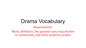 theme question definition drama vocabulary requirements word definition the question you